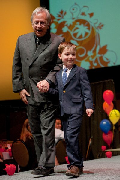 (Denver, Colorado, April 8, 2011)<br /> Dr. Michael Schaffer and Xavier Piper.  The 2011 Little Hearts Luncheon and Fashion Show, benefiting The Children's Hospital Heart Institute, at the Infinity Park Event Center in Denver, Colorado, on Friday, April 8, 2011.<br /> STEVE PETERSON
