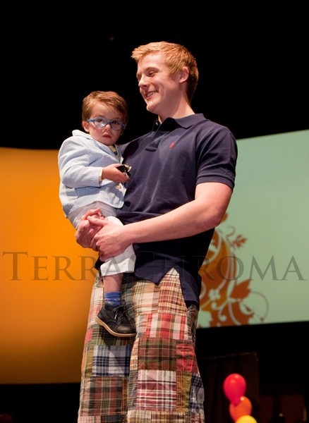 (Denver, Colorado, April 8, 2011)<br /> Liam Piper and Brandon Snyder.  The 2011 Little Hearts Luncheon and Fashion Show, benefiting The Children's Hospital Heart Institute, at the Infinity Park Event Center in Denver, Colorado, on Friday, April 8, 2011.<br /> STEVE PETERSON