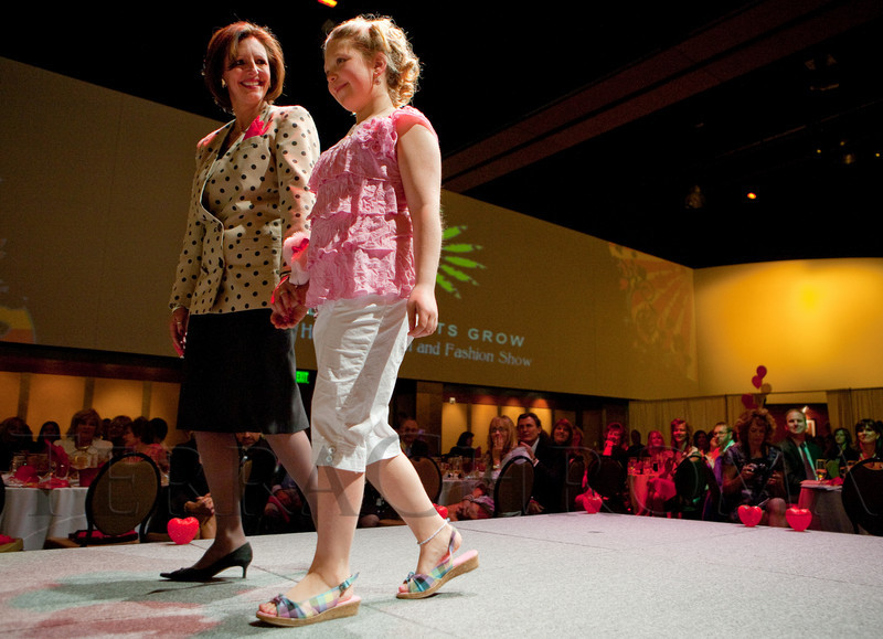 (Denver, Colorado, April 8, 2011)<br /> Patricia Peterson and Tara Schmelzer.  The 2011 Little Hearts Luncheon and Fashion Show, benefiting The Children's Hospital Heart Institute, at the Infinity Park Event Center in Denver, Colorado, on Friday, April 8, 2011.<br /> STEVE PETERSON