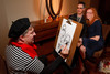 "(Denver, Colorado, April 16, 2011)<br /> Jake Williams draws caricature of Martin Rowe and Dr. Kristen Park.  ""la vie en Rose,"" a benefit for the Epilepsy Foundation of Colorado and the Jason Fleishman Summer Camp, at the Four Seasons Hotel Denver in Denver, Colorado, on Saturday, April 16, 2011.<br /> STEVE PETERSON"