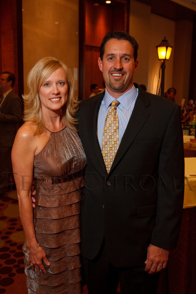 "(Denver, Colorado, April 16, 2011)<br /> Candy and Ryan Palazzo.  ""la vie en Rose,"" a benefit for the Epilepsy Foundation of Colorado and the Jason Fleishman Summer Camp, at the Four Seasons Hotel Denver in Denver, Colorado, on Saturday, April 16, 2011.<br /> STEVE PETERSON"