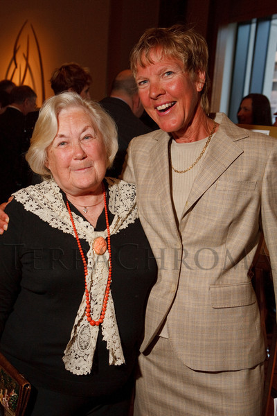 "(Denver, Colorado, April 16, 2011)<br /> Georgia Dove and Diane Van Deren.  ""la vie en Rose,"" a benefit for the Epilepsy Foundation of Colorado and the Jason Fleishman Summer Camp, at the Four Seasons Hotel Denver in Denver, Colorado, on Saturday, April 16, 2011.<br /> STEVE PETERSON"