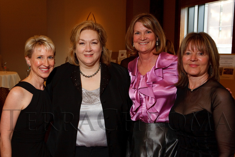 "(Denver, Colorado, April 16, 2011)<br /> Kathryn Ashenfelter (EFCO board of directors president), Dr. Barbara Phillips (epileptologist), Gail Pundsack (EFCO executive director), and Marcia Forman (gala committee member).  ""la vie en Rose,"" a benefit for the Epilepsy Foundation of Colorado and the Jason Fleishman Summer Camp, at the Four Seasons Hotel Denver in Denver, Colorado, on Saturday, April 16, 2011.<br /> STEVE PETERSON"