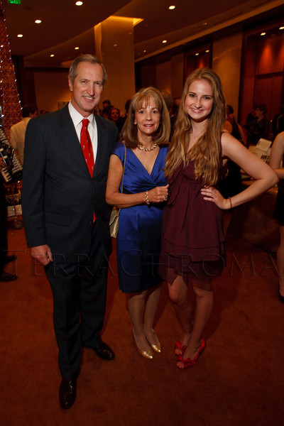 """(Denver, Colorado, April 16, 2011)<br /> Peter, Brenda, and Jackie (daughter) Plowshay.  """"la vie en Rose,"""" a benefit for the Epilepsy Foundation of Colorado and the Jason Fleishman Summer Camp, at the Four Seasons Hotel Denver in Denver, Colorado, on Saturday, April 16, 2011.<br /> STEVE PETERSON"""