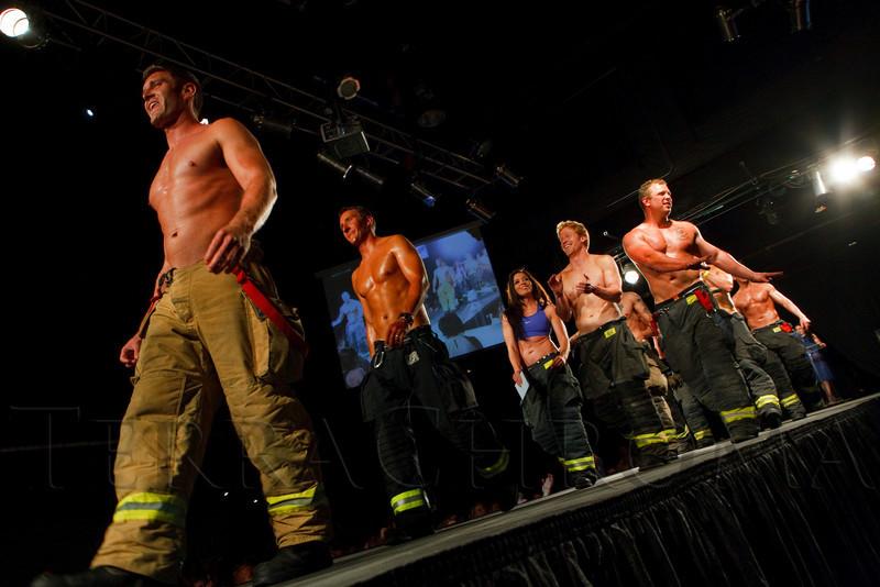 (Denver, Colorado, April 22, 2011)<br /> The 2011 calendar alumni precede the 2012 audition.  The 7th Annual Colorado Firefighter Celebrity Judging Event at Exdo Event Center in Denver, Colorado, on Friday, April 22, 2011.<br /> STEVE PETERSON