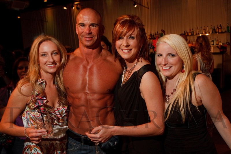(Denver, Colorado, April 22, 2011)<br /> Kristy Armstrong, firefighter David Howard (2011 calendar), Becky Ditchfield, and Laura Kelley.  The 7th Annual Colorado Firefighter Celebrity Judging Event at Exdo Event Center in Denver, Colorado, on Friday, April 22, 2011.<br /> STEVE PETERSON