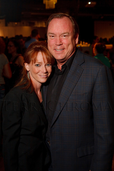 (Denver, Colorado, April 22, 2011)<br /> Leslie McKay (judge) and Roger Hutson.  The 7th Annual Colorado Firefighter Celebrity Judging Event at Exdo Event Center in Denver, Colorado, on Friday, April 22, 2011.<br /> STEVE PETERSON