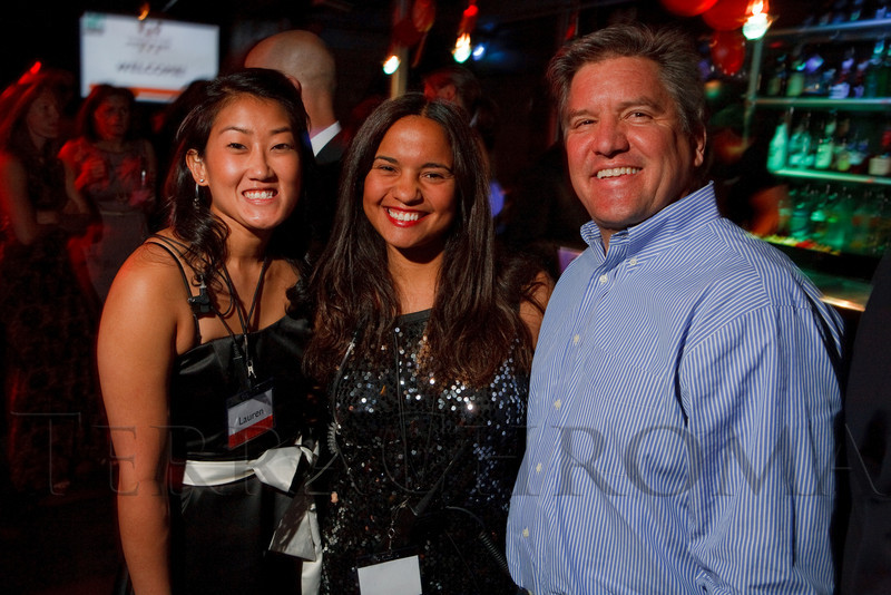 "(Denver, Colorado, April 29, 2011)<br /> Volunteers Lauren Karpiel and Merida Carmona with Chris Romer.  ""Invest In Kids"" event at Exdo Event Center in Denver, Colorado, on Friday, April 29, 2011.<br /> STEVE PETERSON"
