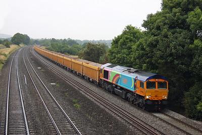 66720 Lower Basildon 23/08/11 6O96 Mountsorrel to Eastleigh