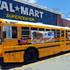 """Tribune-Star/Jim Avelis<br /> Stuffed: The United Way """"Stuff the Bus"""" campaign had their bus at Wal Mart east Thursday."""