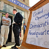 Opening: Democrat party faithful gather at 509 Wabash for the party headquarters opening Thursday evening. `
