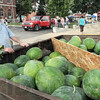 Melon man: Walnut Prairie, Illinois resident Ken Shumaker hopes to sell his load of watermelons during Friday's All America Night on the Marshall square.