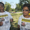 Tribune-Star/Rachel Keyes<br /> Searching for answers: Morgan Johnson's mother Ann Smith (right) and step-father Karl Smith (left) talk about the continued support that is need to find their son.