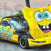 Sponge Bob: Detail photo of Corvette painted with Sponge Bob Squarepants logo.