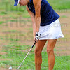 Tribune-Star/Jim Avelis<br /> Chip shot: Rachel Welker chips to the green on the front nine at Hulman Links in the Patriot Golf Invitational.