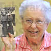Heat wave: Sister Edwardine McNulty holds a photograph of herself during the 1936 heat wave.