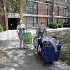 Arrival: West Lafayette resident Rachael Wilson (L) arrives at Lincoln Quad with her mother Rebecca Monday afternoon.
