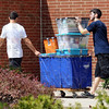 Move-in: Indiana State University students move into Lincoln Quad Monday afternoon.