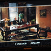 Monitor: Detail photograph of a monitor framing the scene with Governor Ventura and William Tanoos Monday evening.