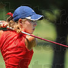 Tribune-Star/Jim Avelis<br /> Watching: Terre Haute North #1 golfer Rachel Welker watches a drive on the front nine at the Terre Haute South Invitational Tuesday afternoon.