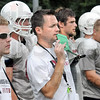 Coach: Jeff Sokol works with his team during Tuesday's practice at Rose-Hulman.