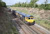 31 August 2011 :: 66717 at Scrubbs Bridge, Micheldever working the Mountfield to Southampton gypsum train