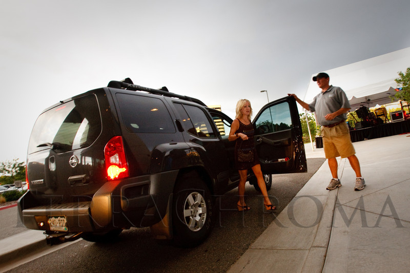 (Denver, Colorado, Aug. 27, 2011)<br /> Rocky Mountain Valet at the ready.  Celebrity Waiter event, a Concerts for Kids benefit, at Shanahan's Steak House in Denver, Colorado, on Saturday, Aug. 27, 2011.<br /> STEVE PETERSON