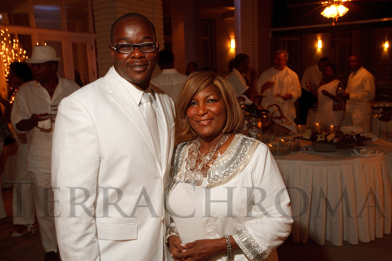 (Denver, Colorado, Aug. 27, 2011)<br /> Juston Cooper (cq) and Elenora Crichlow.  Summer White Party, hosted by the Urban League of Metropolitan Denver, at Green Gables Country Club in Denver, Colorado, on Saturday, Aug. 27, 2011.<br /> STEVE PETERSON