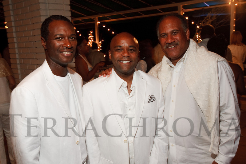 (Denver, Colorado, Aug. 27, 2011)<br /> Landri Taylor, Michael Hancock, and Bob Willis.  Summer White Party, hosted by the Urban League of Metropolitan Denver, at Green Gables Country Club in Denver, Colorado, on Saturday, Aug. 27, 2011.<br /> STEVE PETERSON