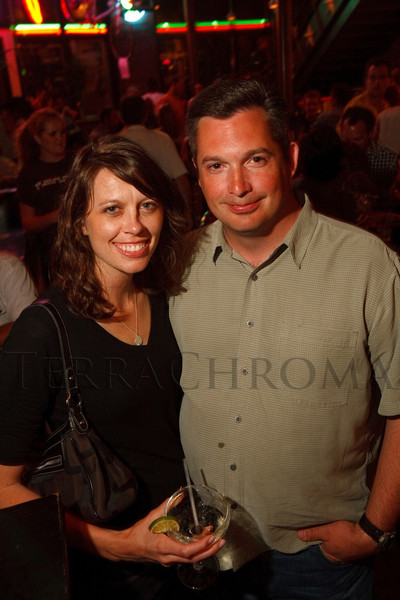 (Denver, Colorado, Aug. 28, 2011)<br /> Sarah and Chuck.  After party for the USA Pro Cycling Challenge at the Rio Grande Mexican Restaurant in Denver, Colorado, on Sunday, Aug. 28, 2011.<br /> STEVE PETERSON