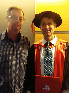After spending three days on the Sunshine Coast, we headed to Brisbane for my PhD graduation. To my left is my primary supervisor, Assoc Prof Darryl Jones - one of Australia's top ecologists. My PhD critically assessed the contribution toward human healthcare of animal experiments, and reviewed alternative strategies.