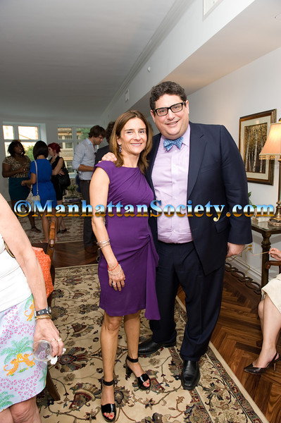 Lisa Lippman, Richard Rubenstein attend Cocktail Party hosted by AVENUE MAGAZINE & LISA LIPPMAN of Brown, Harris Stevens & Wells Fargo to Celebrate Avenue Magazine's July Cover Featuring BYRDIE BELL on Tuesday, July 19, 2011 at 535 West End Avenue, Upper West Side, New York City, NY  PHOTO CREDIT: ©Manhattan Society.com 2011