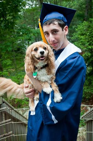 Photos after Ben's High School graduation