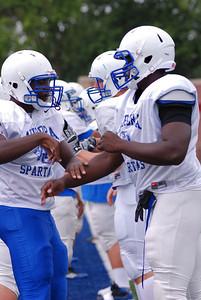 Blue and White scrimmage Kicking off AU 2011 Football season 040