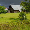 The barn .... Color.  Love the contrast of the sky / greens.