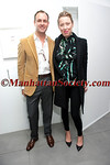 Mark Langrish, Andrea Tese attends Brad Livingstone Black Exhibition Opening on Wednesday, November 2, 2011 at Bosi Domjanovic Gallery at 48 Orchard Street (between Hester and Grand), New York City, NY. PHOTO CREDIT: ManhattanSociety.com by Chris London