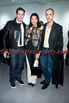 Brad Livingstone Black , Hannah Bronfman, Christian Cota attend Brad Livingstone Black Exhibition Opening on Wednesday, November 2, 2011 at Bosi Domjanovic Gallery at 48 Orchard Street (between Hester and Grand), New York City, NY. PHOTO CREDIT: ManhattanSociety.com by Chris London