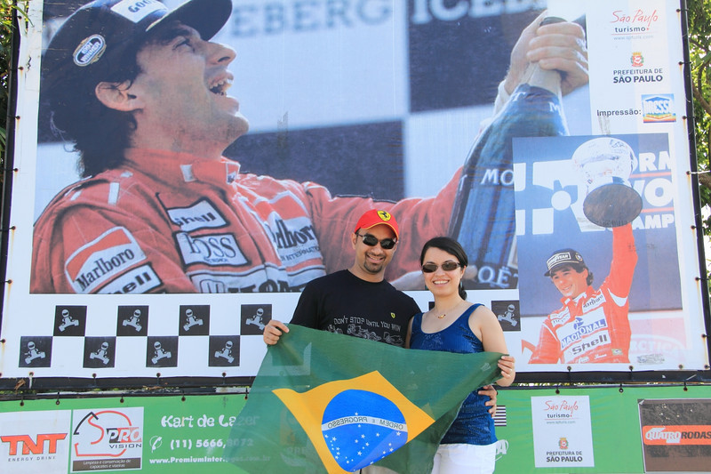 Winners with Ayrton Senna