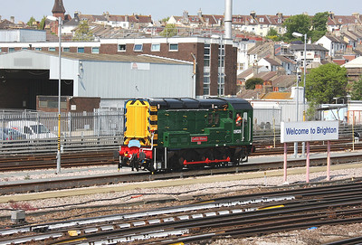 09026 Brighton 01/05/11 heading down towards the station for a photo call next to platform 3