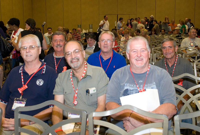CWA 1101 Secretary Jim Trainor, VP Joe Manley, Exec. VP Angel Feliciano, BA Tom McGill, BA Marty Shannon, and BA Bob Pyzeski (pictured left to right).