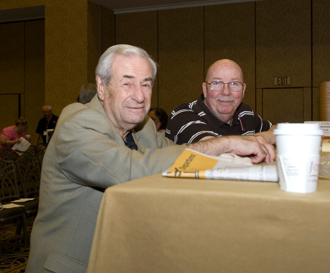 Past CWA President Morty Bahr on the left. Morty served 20 years as CWA National President.