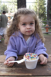 Ice cream with sprinkles....this was one happy camper