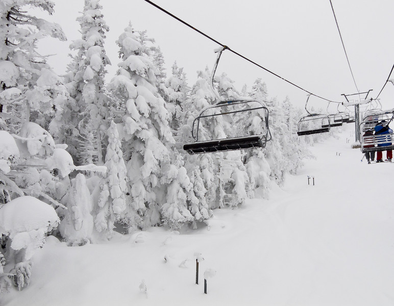 Chairlift going up