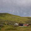 Camp under overcast sky