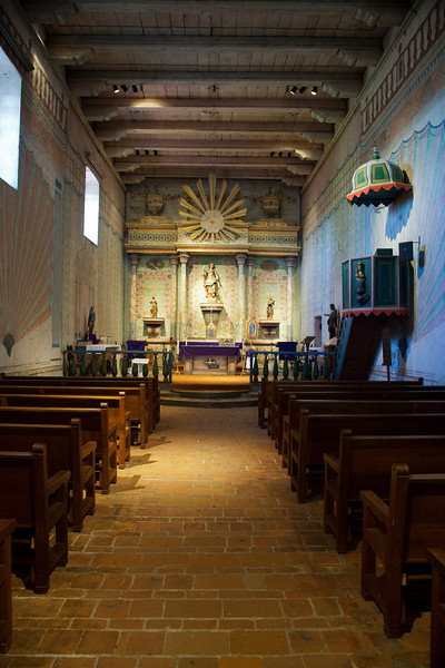 Inside the mission church