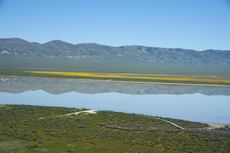 Temblor Range reflected in Soda Lake