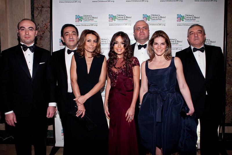 Elnur Aslanov, Javad Marandi, Narmina Marandi, Leyla Aliyeva, Reza Raein, Patricia Suarez de Sola, Ambassador Agshin Mehdiyev (Sean Smith)