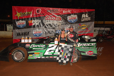 Jimmy Owens in Victory Lane @ Cleveland Speedway