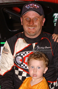 Jimmy Owens and son Nathan in Victory Lane @ Cleveland Speedway