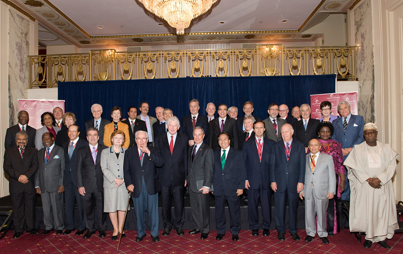 Club de Madrid Members with NYC Mayor Michael Bloomberg
